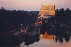 The Gopuram during LakshaDeepam