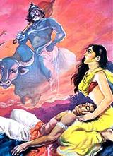 Yama comes to take Satyavan