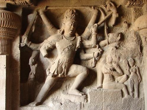 Andhakasuravadham - A beauiful sculpture in Mahabalipuram