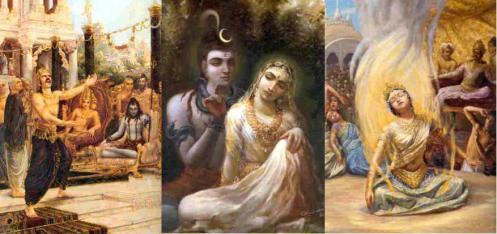 Daksha's insult-Shiva Sati-Sati Burns