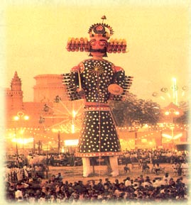 The gigantic Ravan Effigy