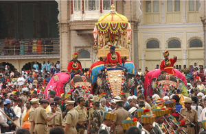 The procession of Chanmundeshwari